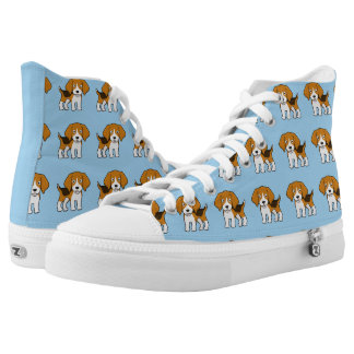 Niedlicher Beagle Hoch-geschnittene Sneaker
