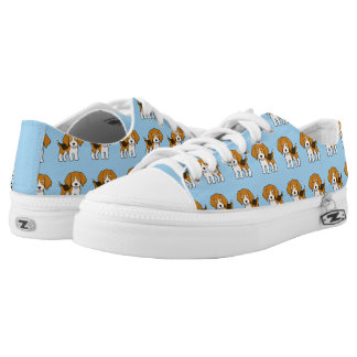 Niedlicher Beagle Niedrig-geschnittene Sneaker
