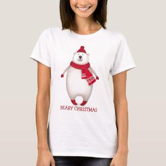 Niedlicher Beary Weihnachtspolarer Bärn-lustiger T T-Shirt