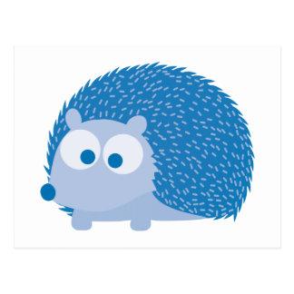Niedlicher blauer Igel Postkarte
