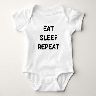 Niedlicher Bonbon essen Schlaf-Wiederholungs-Text Baby Strampler
