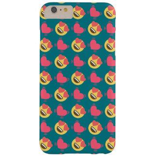 Niedlicher Bonbon in der Liebe Emoji, Herzmuster Barely There iPhone 6 Plus Hülle