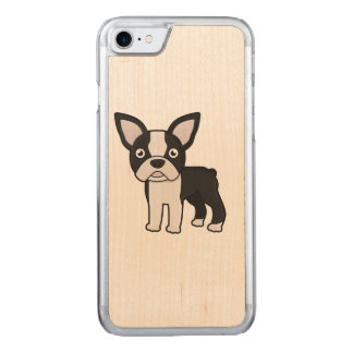 Niedlicher Boston-Terrier Carved iPhone 7 Hülle