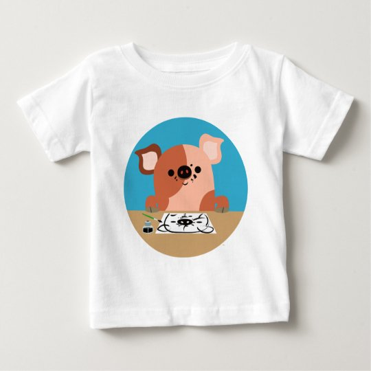 Niedlicher Cartoon, der Ferkel-Baby-T - Shirt