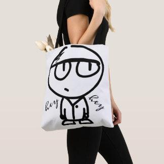 Niedlicher Cartoon, der he he Taschen-Tasche Tasche
