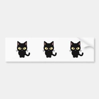 Niedlicher Cartoon der schwarzen Katze Autoaufkleber