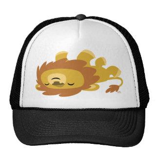 Niedlicher Cartoon-fauler Löwe-Fernlastfahrer-Hut Netz Caps