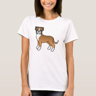 Niedlicher Cartoon-Kitz-Boxer-Hund T-Shirt