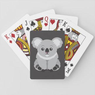 Niedlicher Cartoon Koala-Bär Spielkarten