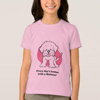 Niedlicher Cartoon-maltesischer KinderT - Shirt
