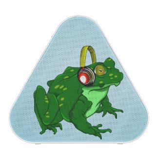 Niedlicher Cartoon-Ochsenfrosch-tragende Kopfhörer Bluetooth Lautsprecher