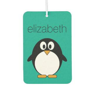 niedlicher Cartoon Penguinsmaragd und -SCHWARZES Autolufterfrischer