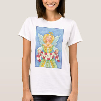 Niedlicher Cartoon-Weihnachtsengels-Halo mit T-Shirt