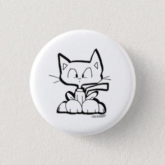 niedlicher Cartoonkatzenknopf durch Chris Desatoff Runder Button 2,5 Cm