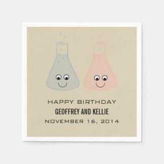 Niedlicher Chemie-Geburtstags-Papierservietten Servietten