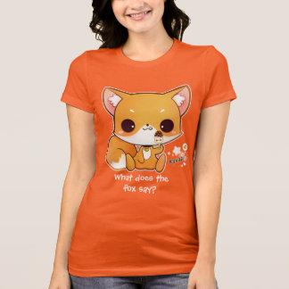 Niedlicher chibi Fuchs mit kawaii Eiscreme T-Shirt