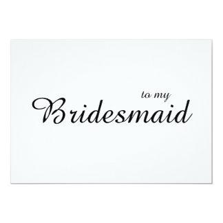Niedlicher Chic zu meiner Brautjungfern-Hochzeit Karte