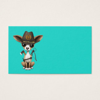Niedlicher Chihuahua-Welpen-Zombie-Jäger Visitenkarte