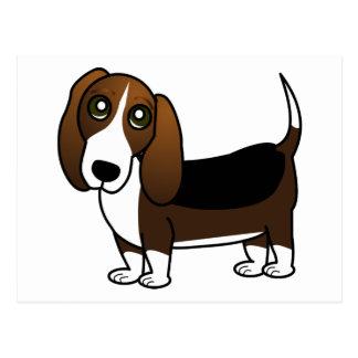Niedlicher Dachshund-Jagdhund-Cartoon - Brown weiß Postkarte