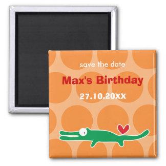Niedlicher der Geburtstags-Party-Magnet des Quadratischer Magnet