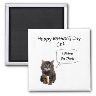 Niedlicher der Vatertags-Quadrat-Magnet Kätzchen- Quadratischer Magnet