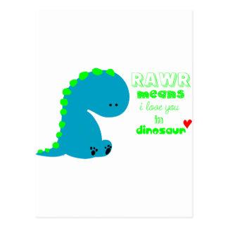 Niedlicher Dinosaurier RAWR Postkarte