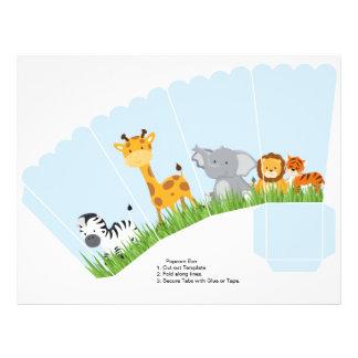 Niedlicher Dschungel-Tier-Junge ausgebogter 21,6 X 27,9 Cm Flyer