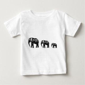 Niedlicher Elefant-Familien-Silhouetteentwurf Baby T-shirt