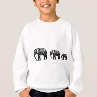 Niedlicher Elefant-Familien-Silhouetteentwurf Sweatshirt