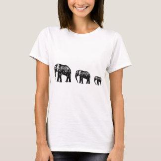 Niedlicher Elefant-Familien-Silhouetteentwurf T-Shirt