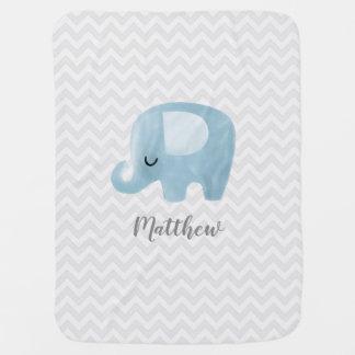 Niedlicher Elefant-personalisierte Kinderwagendecke