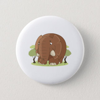 Niedlicher Elefant Runder Button 5,7 Cm