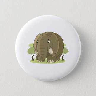 Niedlicher Elefant Runder Button 5,7 Cm