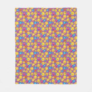 Niedlicher Emoji Druck auf lt Purple Blanket Fleecedecke