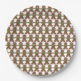 Niedlicher Emoji Lebkuchen-Mann Pappteller