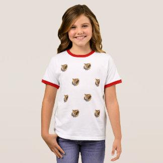 Niedlicher Entwurf der Gesichter vieler lustigen Ringer T-Shirt