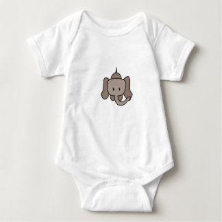 Niedlicher Entwurf des Elefanten Baby Strampler