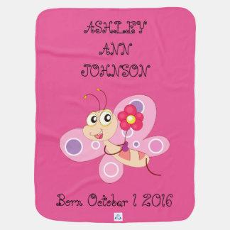 Niedlicher entzückender bunter Schmetterling Baby-Decken