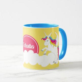 niedlicher Fantasie Unicorn addieren Tasse