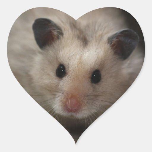Niedlicher flaumiger Hamster Herzaufkleber