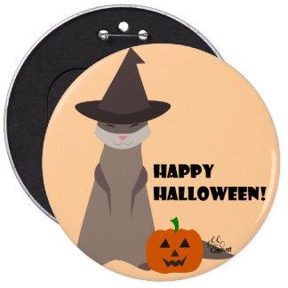 Niedlicher Frettchen-Halloween-Knopf Runder Button 15,3 Cm