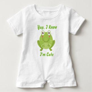Niedlicher Frosch Baby Strampler