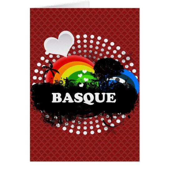 Niedlicher fruchtiger Baske Grußkarte