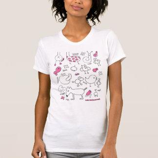 Niedlicher Gekritzel-T - Shirt mit