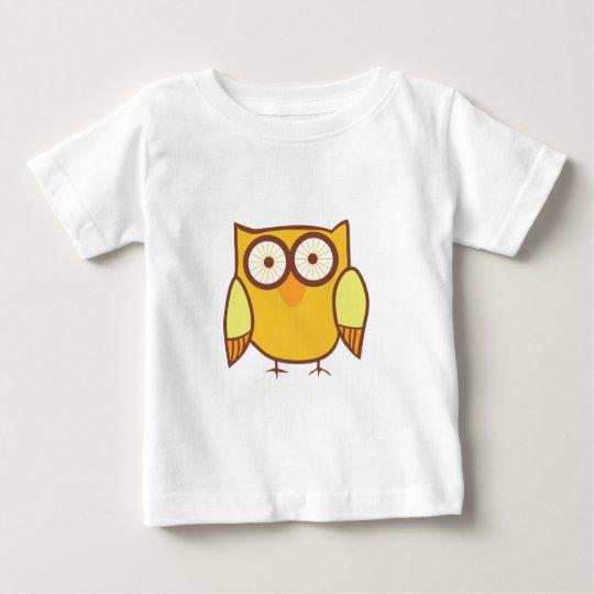Niedlicher gelber Eulen-Vogel Baby T-shirt