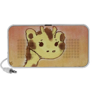 Niedlicher Giraffen-Gekritzel-Lautsprecher