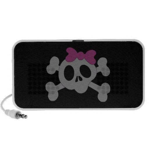Niedlicher girly Schädel Laptop Speaker