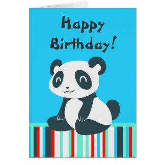 Niedlicher glücklicher Cartoon-Panda Grußkarte