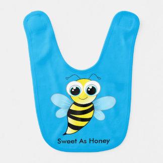 Niedlicher glücklicher Hummel-Bienen-Schellfisch Lätzchen