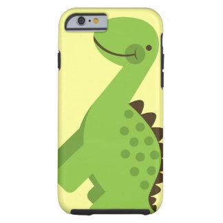 Niedlicher grüner Dinosaurier Tough iPhone 6 Hülle